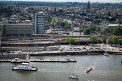 Weergeven van Adam Lookout in Amsterdam stock foto's