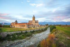 Weergeven van Alaverdi-Klooster - Georgisch Oostelijk Orthodox klooster stock afbeelding