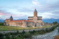 Weergeven van Alaverdi-Klooster - Georgisch Oostelijk Orthodox klooster royalty-vrije stock foto's