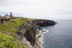 Weergeven van Banzai Cliff, Saipan stock foto