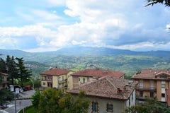 Weergeven van Berg van Titanen, San Marino royalty-vrije stock foto