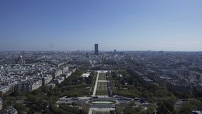 Weergeven van Champ de Mars van hoogte stock videobeelden
