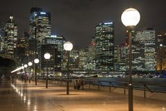 Weergeven van Cirkelkade, Sydney, Australië stock fotografie