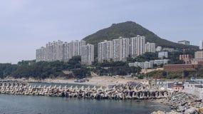 Weergeven van cityscape en overzees bij Yeongdo-een deel van Busan stock foto
