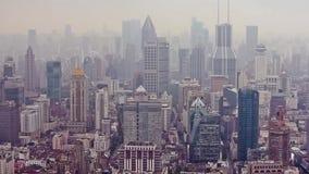 Weergeven van cityscape van Shanghai, Shanghai, China stock video