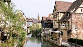 Weergeven van Colmar, stad van Frankrijk stock videobeelden