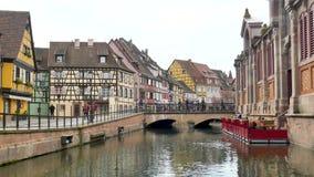 Weergeven van Colmar, stad van Frankrijk stock footage