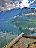 Weergeven van de Alpen en de amaying wolken stock foto