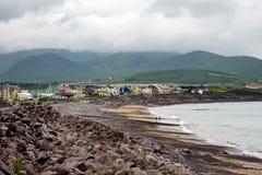 Weergeven van de ballinskelligbaai in Waterville Provincie Kerry, Ierland stock afbeelding