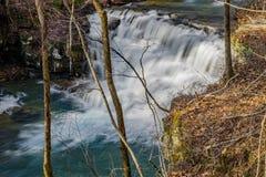 Weergeven van de belangrijkste de Mijnenwatervallen van Watervalfenwick stock afbeelding
