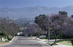 Weergeven van de heuvels die Santa Barbara, Californië overzien stock foto
