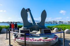 Weergeven van de Historische plaatsen van de Parelhaven, Honolulu, Hawaï stock foto