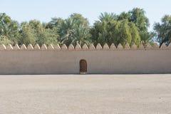 Weergeven van de ingang aan de oase stock afbeelding