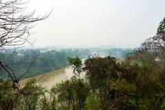 Weergeven van de khan rivier van Nam in Luang Prabang, Laos royalty-vrije stock foto