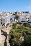 Weergeven van de oude stad, Ronda, Spanje royalty-vrije stock foto's
