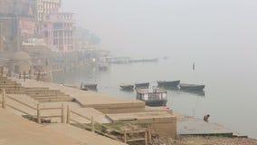 Weergeven van de Rivier van Ganges stock video