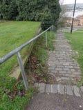 Weergeven van de Rivier Medway van Churchfields, Rochester, het Verenigd Koninkrijk royalty-vrije stock fotografie