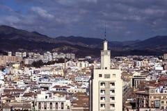 Weergeven van de Spaanse stad van Malaga van een hoogte royalty-vrije stock foto's
