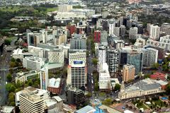 Weergeven van de stad van Auckland royalty-vrije stock afbeeldingen