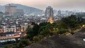 Weergeven van de stad van Macao van de vesting van Macao stock foto