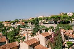 Weergeven van de stad in Nice stock foto's
