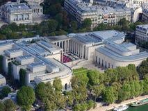 Weergeven van de stad van Parijs van de hoogte van de Toren van Eiffel stock afbeeldingen