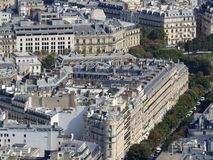 Weergeven van de stad van Parijs van de hoogte van de Toren van Eiffel stock fotografie