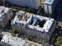 Weergeven van de stad van Parijs van de hoogte van de Toren van Eiffel royalty-vrije stock foto's