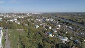 Weergeven van de stad van Vladimir van de hoogte van de Veronderstellingskathedraal