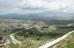 Weergeven van de vallei van oostelijk Anatolië stock afbeeldingen