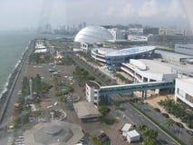 Weergeven van de Wandelgalerij van het oog van Azië, Metro Manilla, Filippijnen stock afbeeldingen