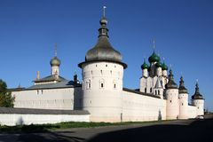 Weergeven van de witte steen het Kremlin royalty-vrije stock foto's