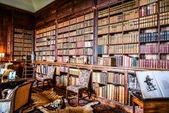 Weergeven van Dunrobin-kasteel binnen bibliotheek Schotland het UK stock foto