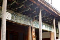 Weergeven van een tempel in het dorp van Baisha, Lijiang, Yunnan, China royalty-vrije stock foto's