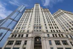 Weergeven van gebouwen in Chicago royalty-vrije stock fotografie