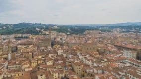 Weergeven van gebouwen en de stad van Florence, Italië stock fotografie
