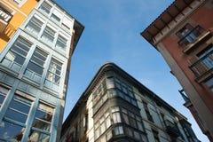 Weergeven van gebouwen op een zonnige dag royalty-vrije stock fotografie