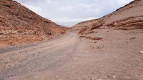 Weergeven van het landschap van rotsen van de Vallei Valle DE Marte, Atacama-Woestijn, Chili van Mars royalty-vrije stock foto