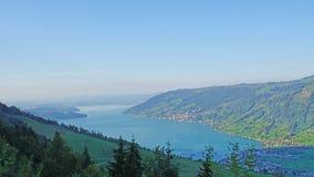 Weergeven van het Onderstel Rigi in Zwitserland royalty-vrije stock foto's