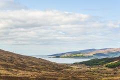 Weergeven van het Quiraing-landschap, Eiland van Skye royalty-vrije stock foto's