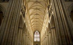 Weergeven van het Schip van Beverely-Munster van het koor, Beverley, het Berijden van het Oosten van Yorkshire, het UK - Maart 20 royalty-vrije stock afbeeldingen