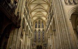 Weergeven van het Zuiden Transcept van Beverely-Munster van het koor, Beverley, het Berijden van het Oosten van Yorkshire, het UK royalty-vrije stock afbeelding