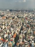 Weergeven van hierboven van Saigon-stad royalty-vrije stock afbeelding