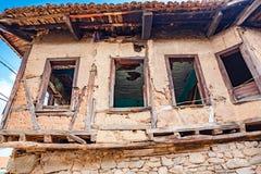 Weergeven van historisch populair Cumalikizik-dorp in Slijmbeurs royalty-vrije stock fotografie