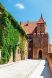 Weergeven van historische gebouwen in Torun in Polen Torun is vermeld onder de Unesco-Plaatsen van de Werelderfenis stock afbeeldingen
