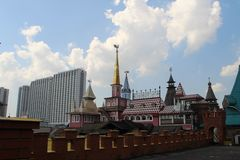 Weergeven van Izmailovo het Kremlin in Moskou, Rusland royalty-vrije stock foto's