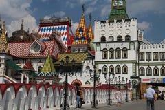 Weergeven van Izmailovo het Kremlin in Moskou, Rusland royalty-vrije stock foto