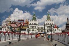Weergeven van Izmailovo het Kremlin in Moskou, Rusland stock foto