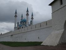 Weergeven van Kazan het Kremlin Kazan, Rusland stock afbeelding