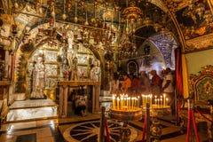Weergeven van kerk van het Heilige Grafgewelf stock afbeelding